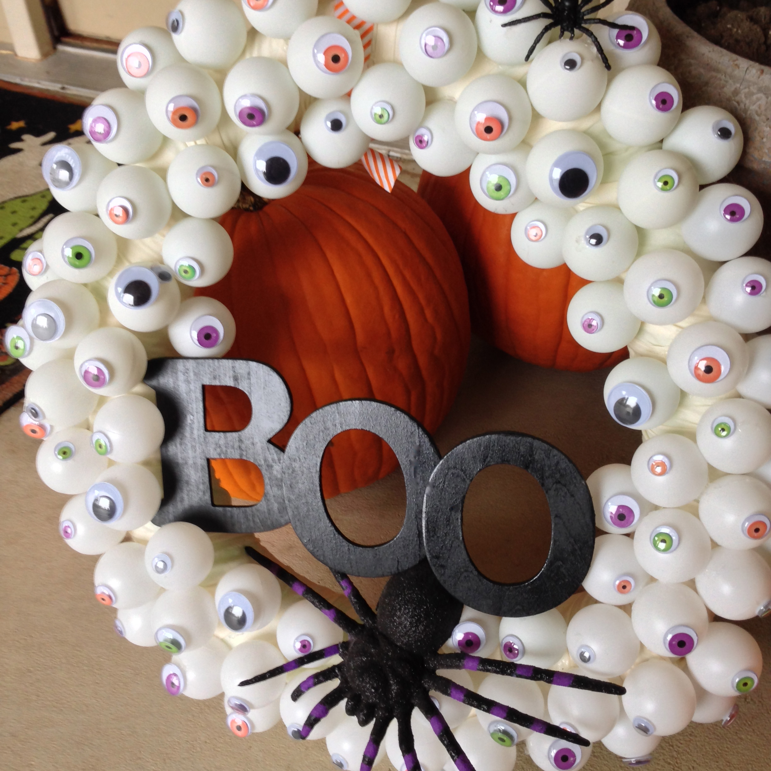 Halloween Eyes Boo Wreath Easy Diy Keep It Simple Summer