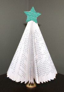 Folded Paper Book Tree