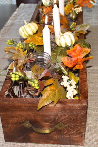 DIY Rustic Wooden Centerpiece Box