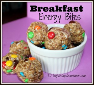 Breakfast Energy Bites