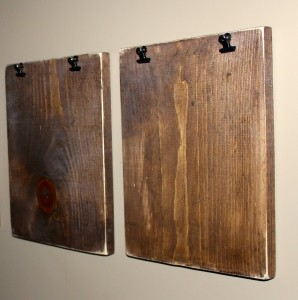 DIY Wooden Clipboards