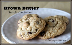 Brown Brown Chocolate Chip Cookies