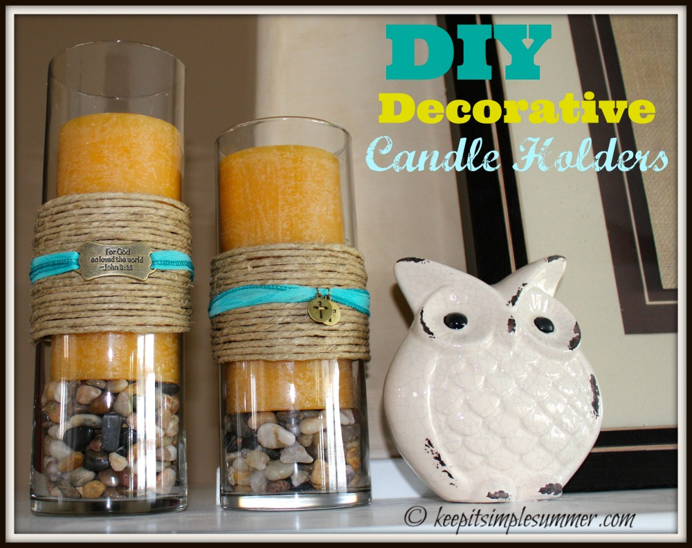 DIY Decorative Candle Holder
