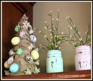 Easy DIY Burlap Easter Tree