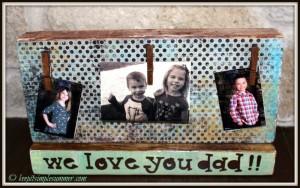 DIY Dad's Desk Photo Holder